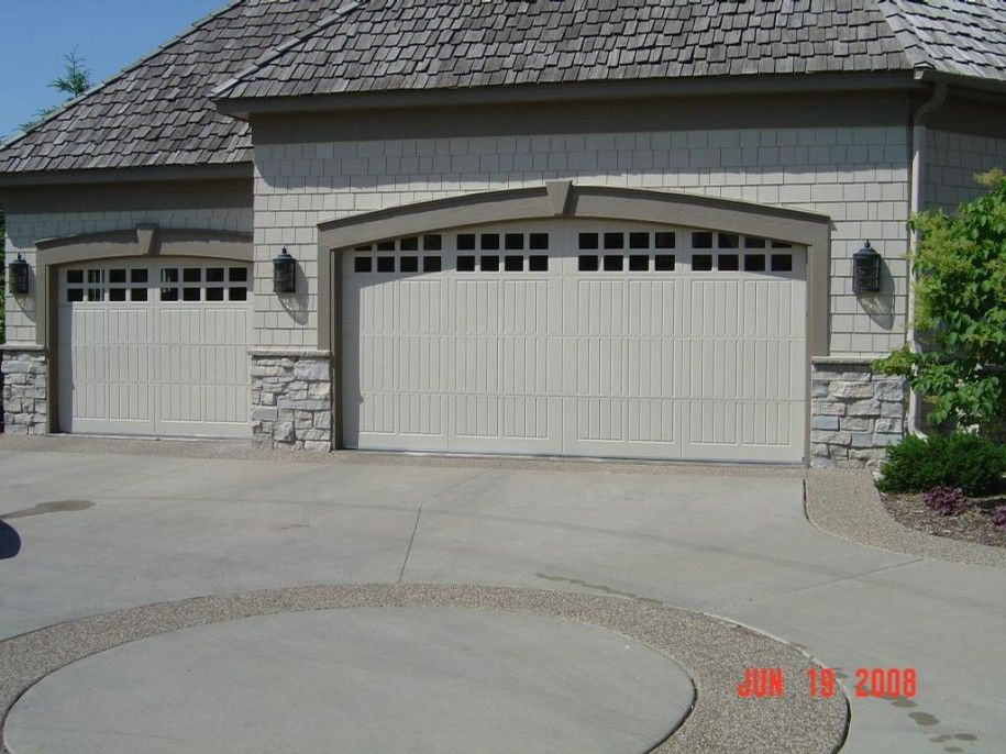 Grey Stone Houses With White Garage Door Door For Tasteful You Black Wall Lamps White Stony