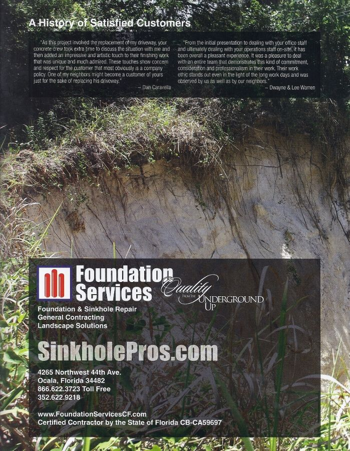 Sinkhole Pros At Foundation Services Of Central Florida With Over 2000 Successful Remediation Repair Jobs We Re Your Property