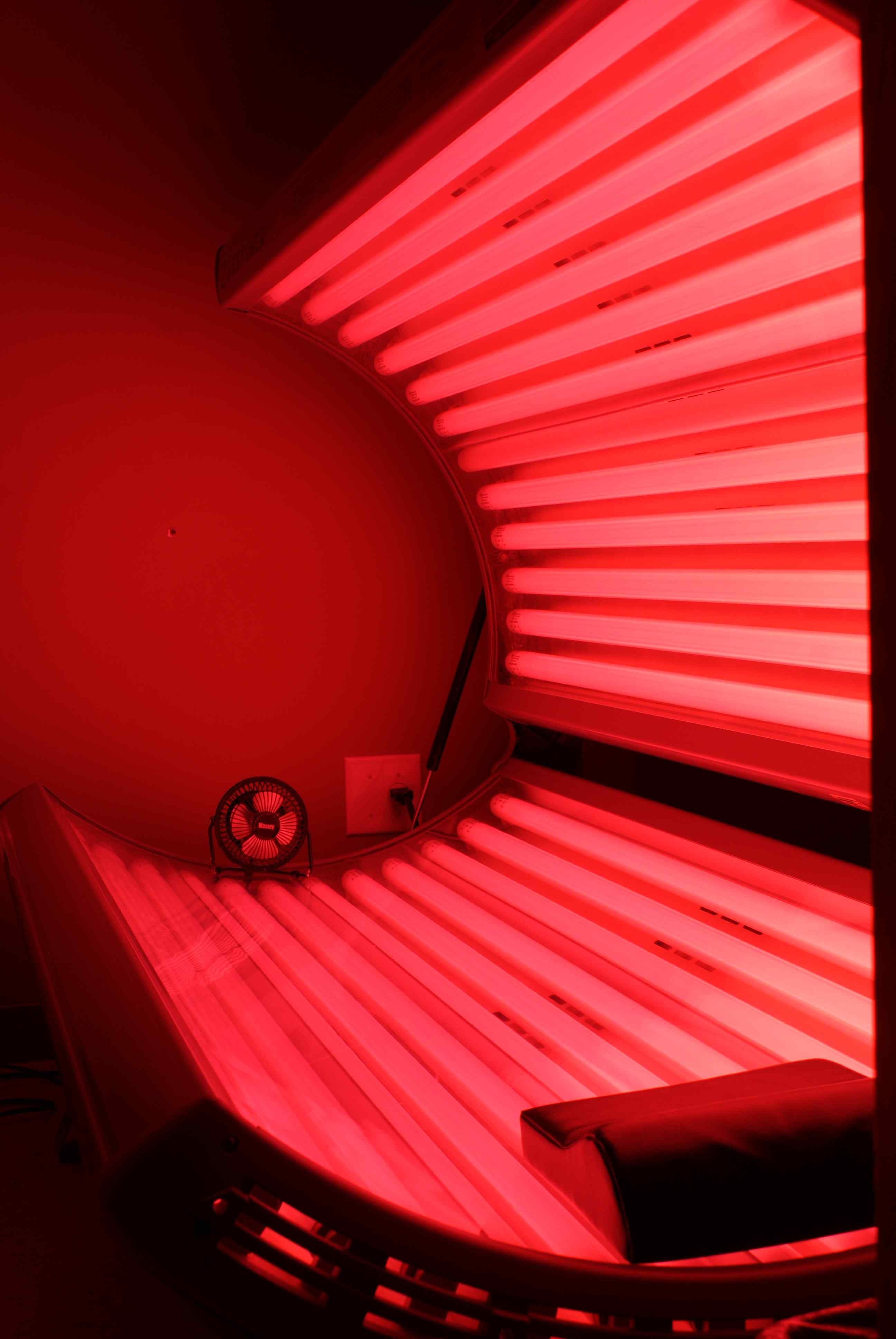 I love getting in this healthy warm bed of red lights that