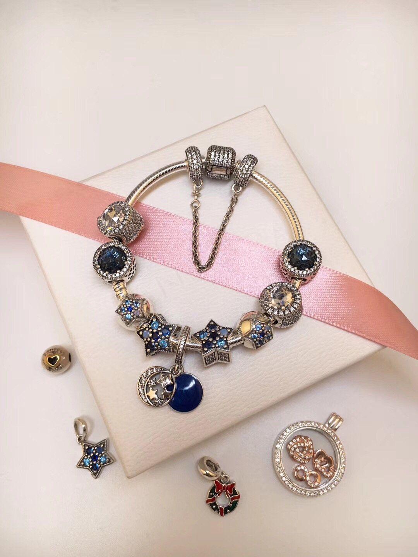 Pandora Winter Luxury Theme Bracelet With 10 Pcs