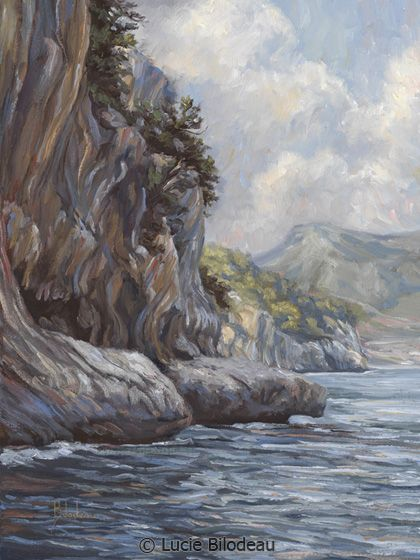 """""""Flowing Waters"""", oil on canvas, 16"""" x 12"""", by Lucie Bilodeau."""