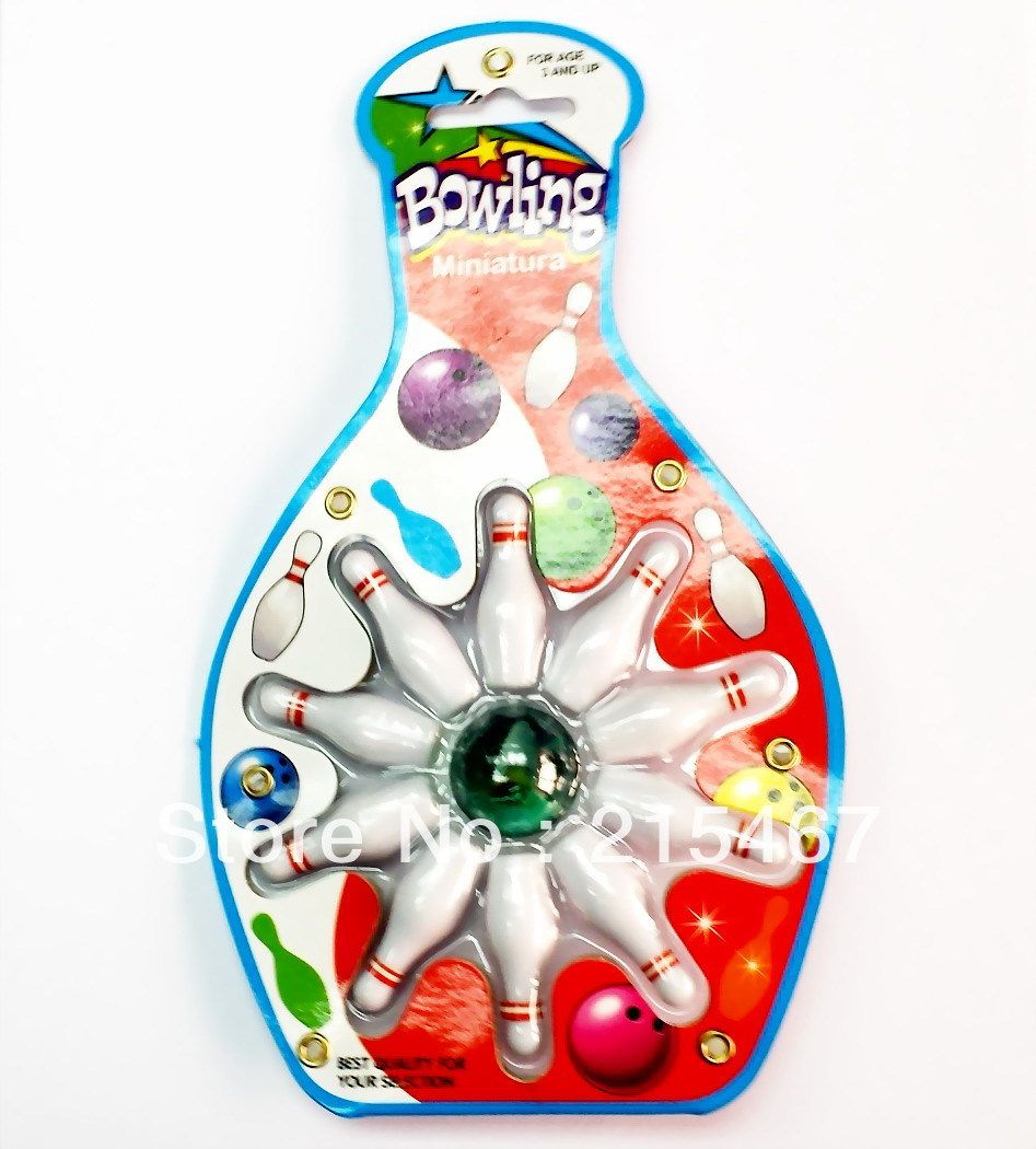 Ball Game Toy : Mini bowling ten pin table top skittles ball game toy