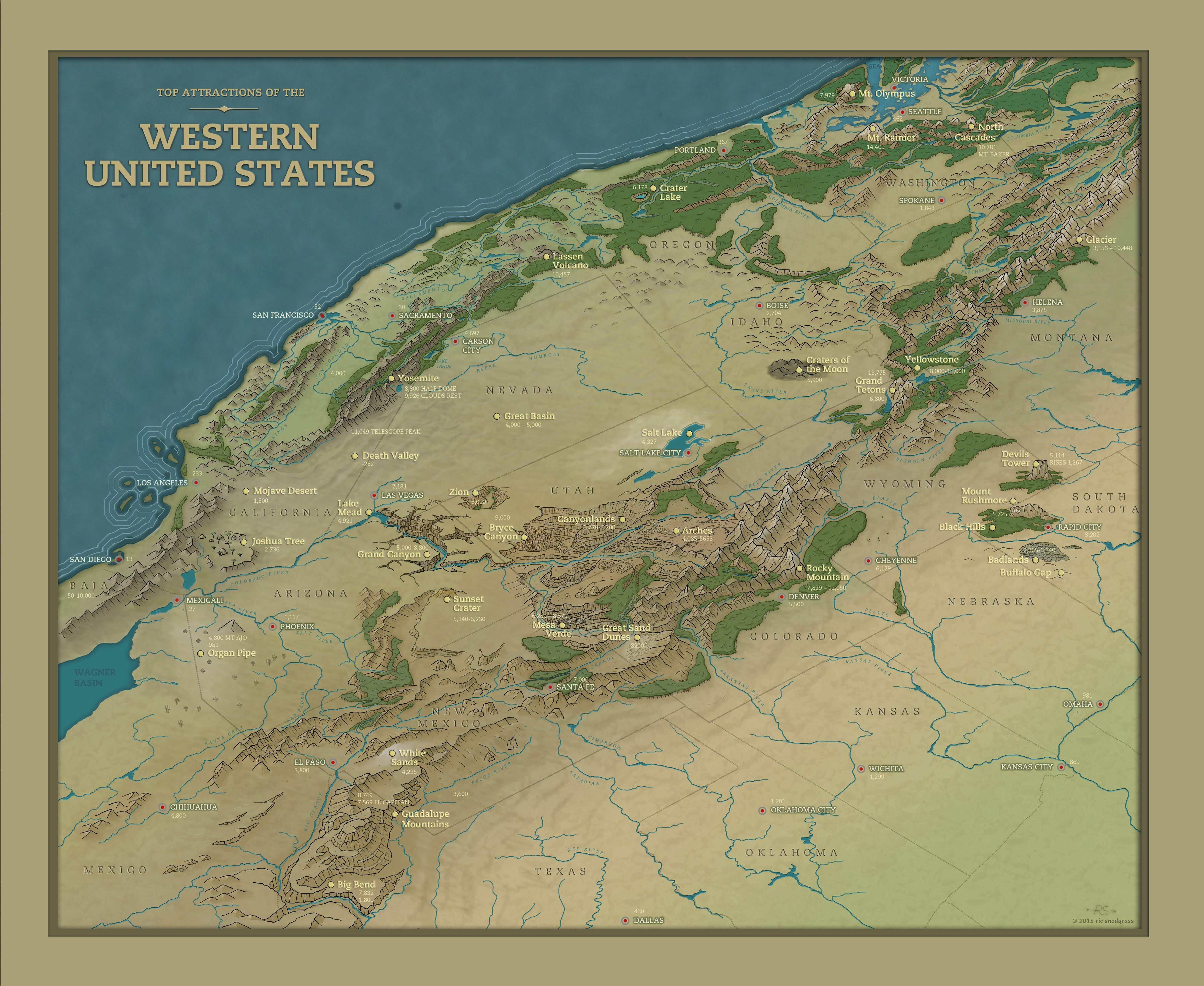 Western United States By Snodsy Cartographers Guild Maps - Us map maker