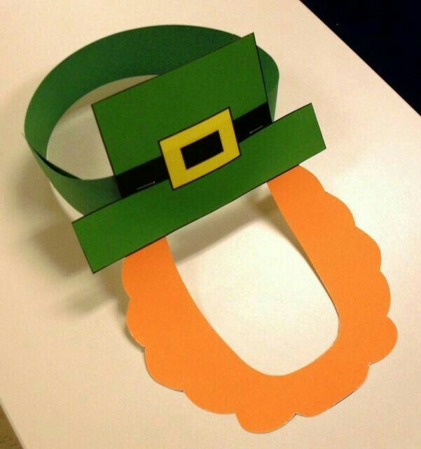 St patrick 39 s day craft for kids photo only st for Leprechaun mask template