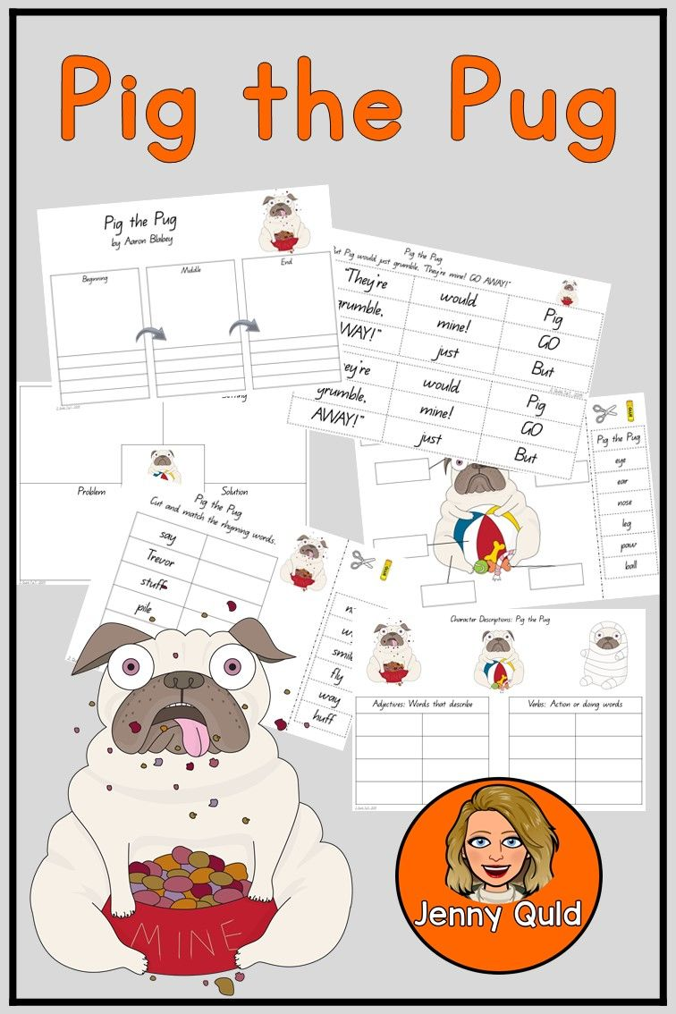 Pig The Pug Book Companion Print Go Literacy Activities