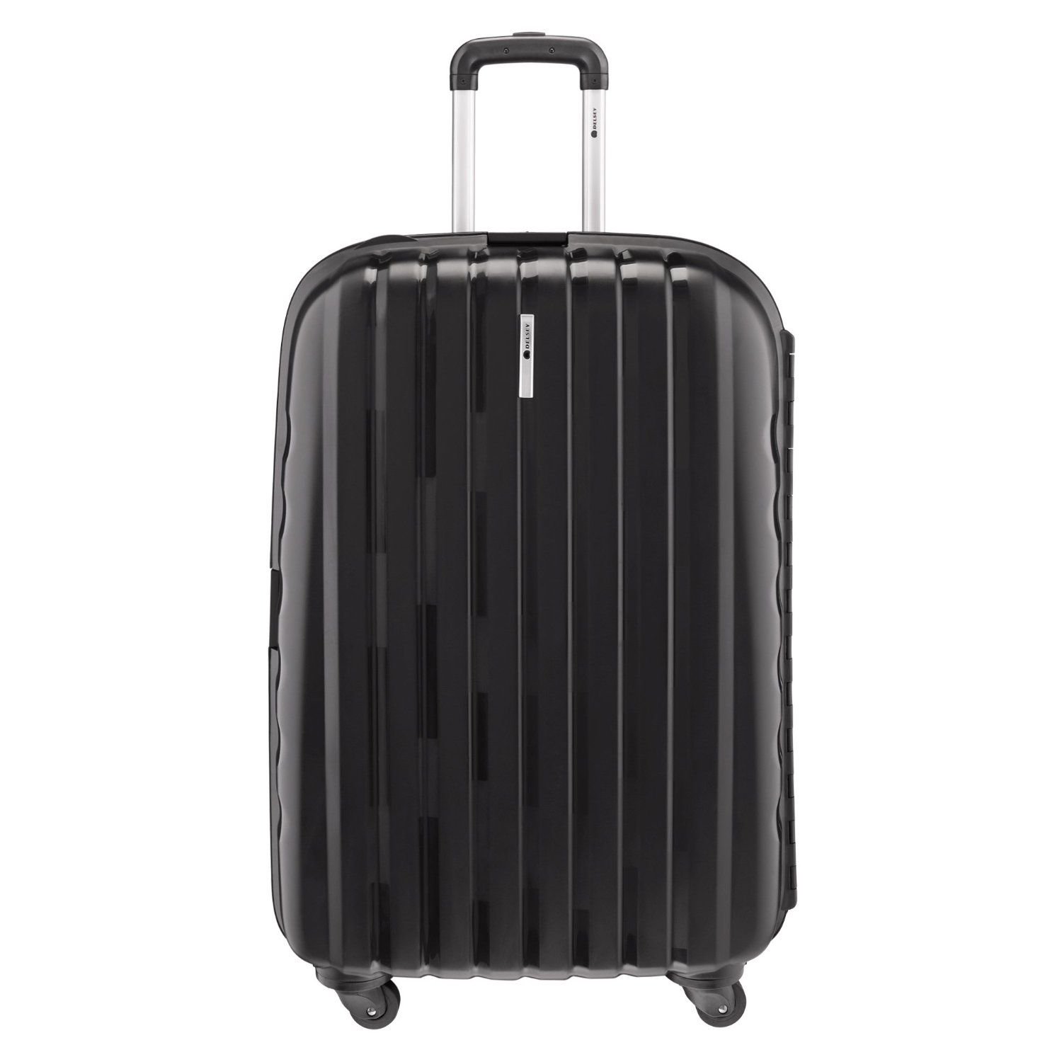 Delsey Luggage Helium Colours Lightweight Hardside 4 Wheel Spinner Black 30 Inch Delsey Luggage Delsey Luggage