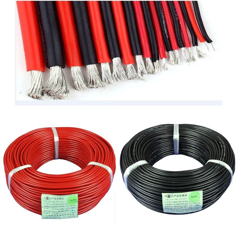 Best Price 2PCS 1meter Red1meter Black Silicon Wire 12AWG 14AWG ...