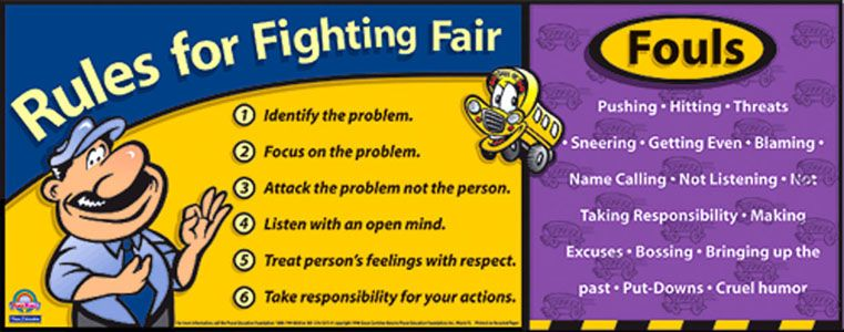 Rules For Fair Fighting Pdf Peace Education Foundation Curricula