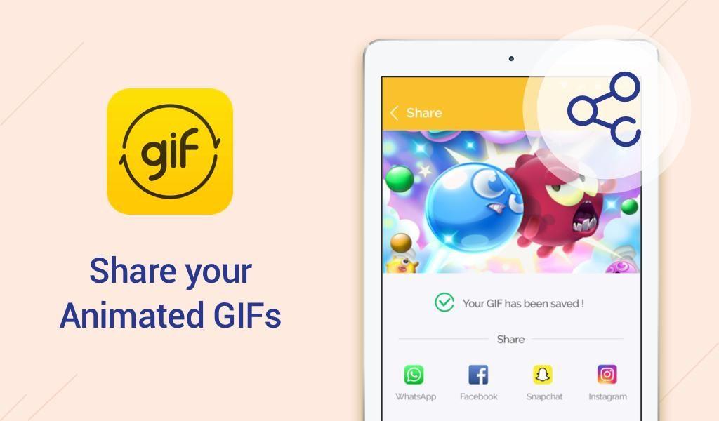 تطبيق Du Gif Maker لإنشاء صور Gif من فيديو أو صور Video Maker Share Gif Animation