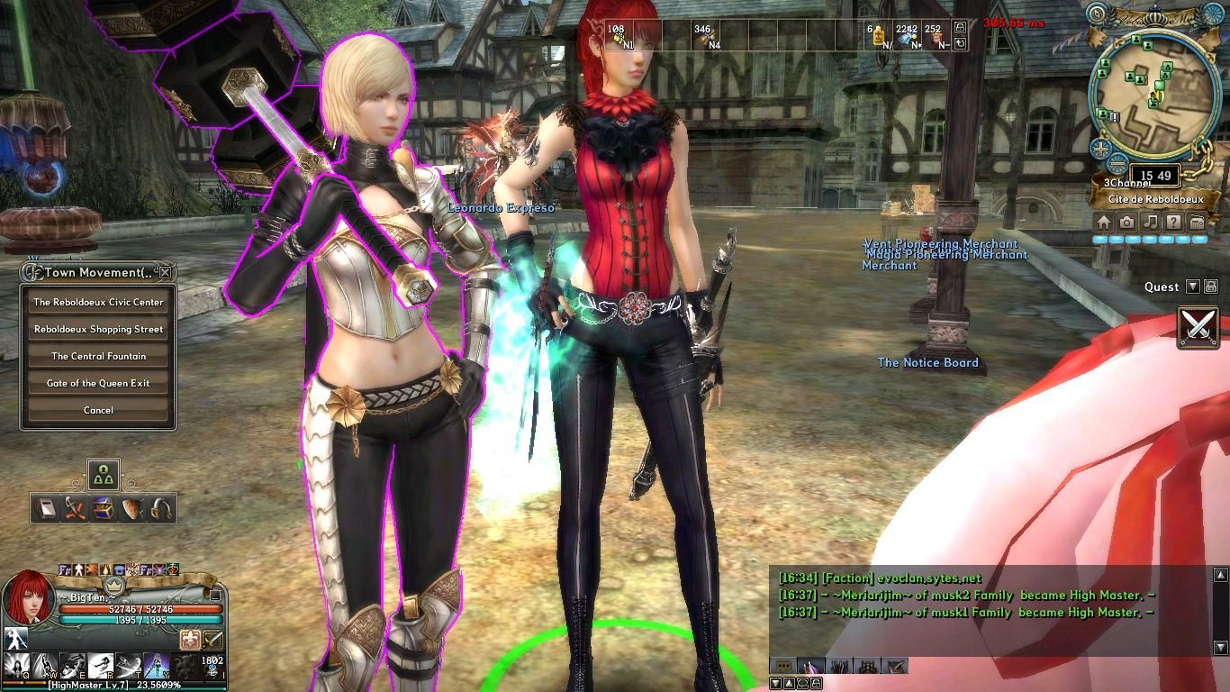Granado Espada  /   Granado Espada Online   Promotion Rare Cash character Sacred Hammer Brianne (the one with purple glow around her)   and the Free-Recruit and most  powerful character 'till now Grandies   <3