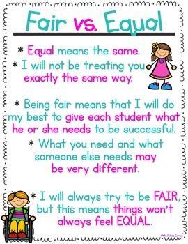 fair vs equal