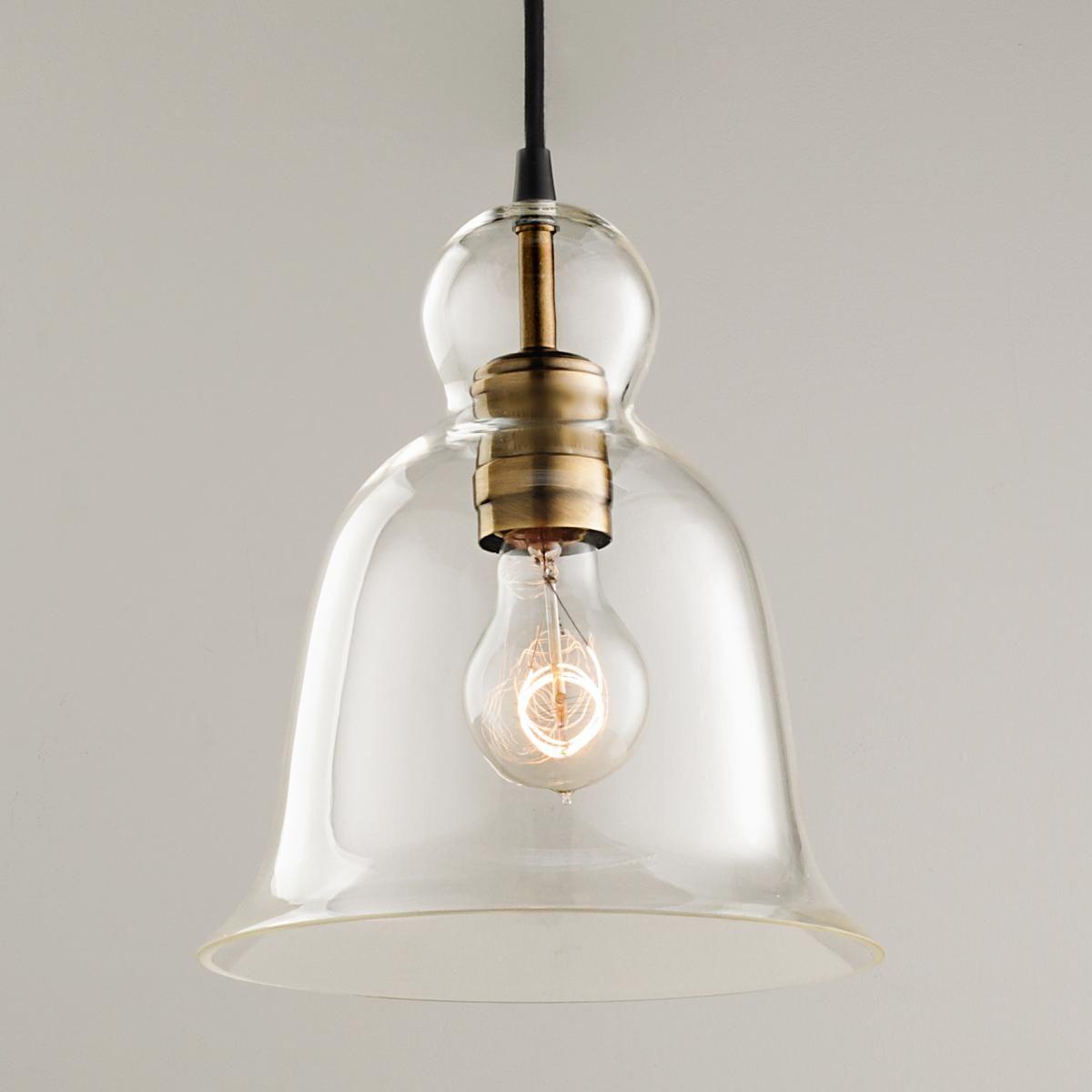 Kitchen Sink Pendant Light Cabinet Organizers Bell Curve Glass Pendants