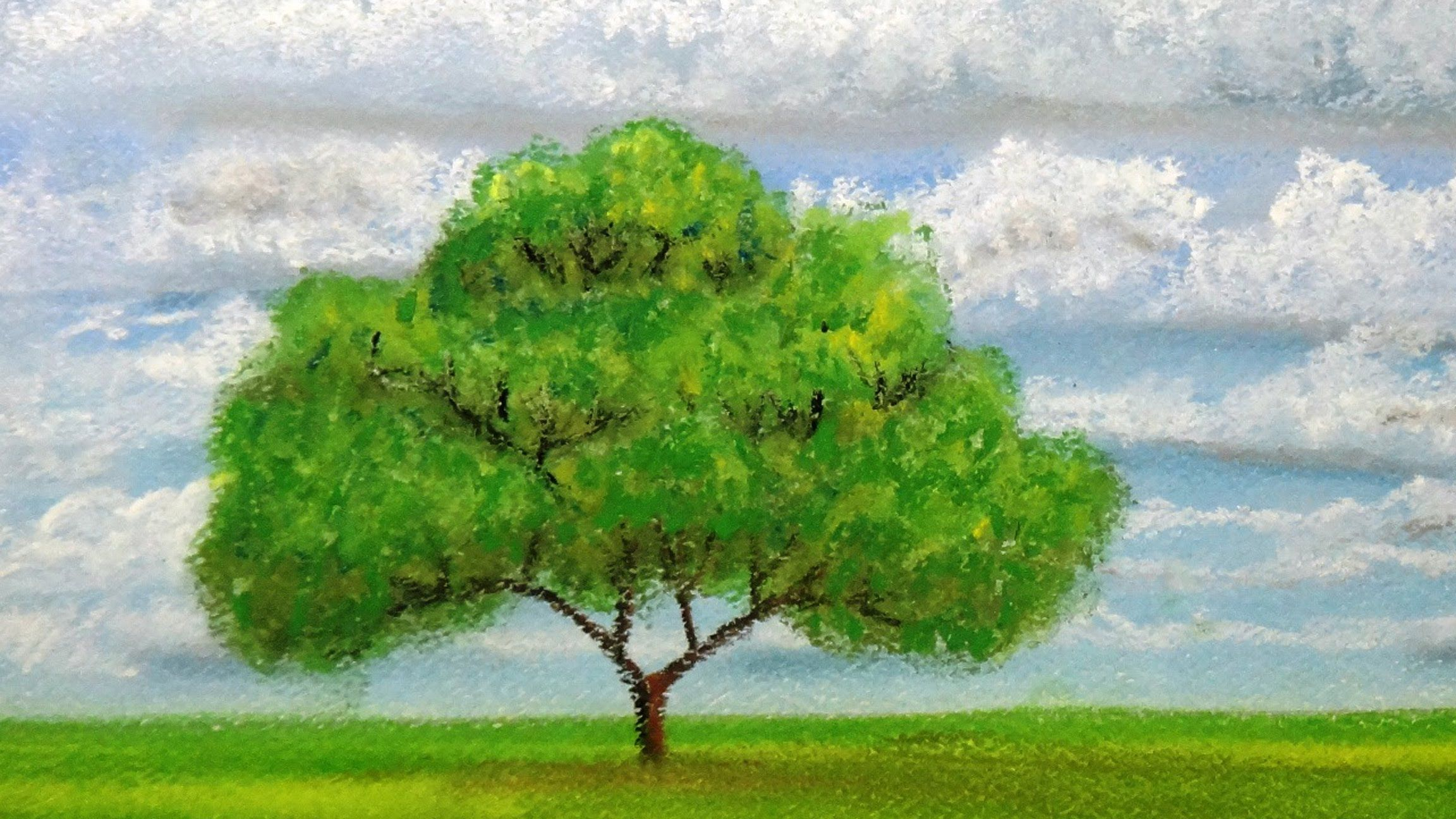 How to draw a tree at distance with pastels | pastel | Pinterest ...