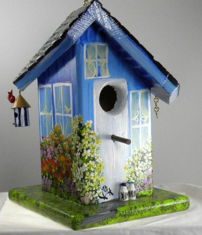 Vogelfutterhaus selber bauen - 57 schöne Vorschläge! - Archzine.net #vogelhausbauen