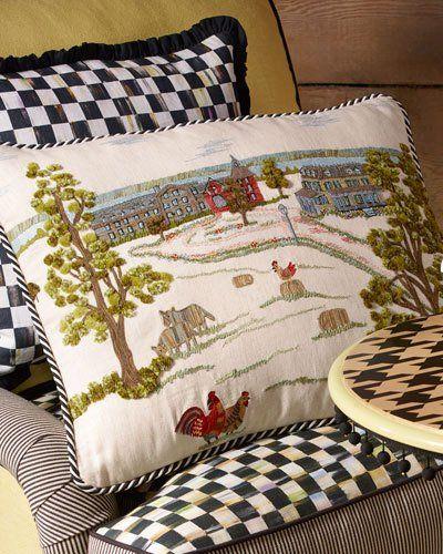 HB0M5 MacKenzie-Childs MacKenzie-Childs Farm Pillow