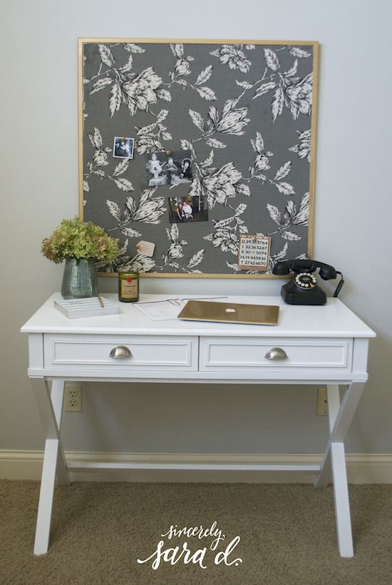 Ordinaire DIY Fabric Covered Corkboard Bulletin Board Makeover