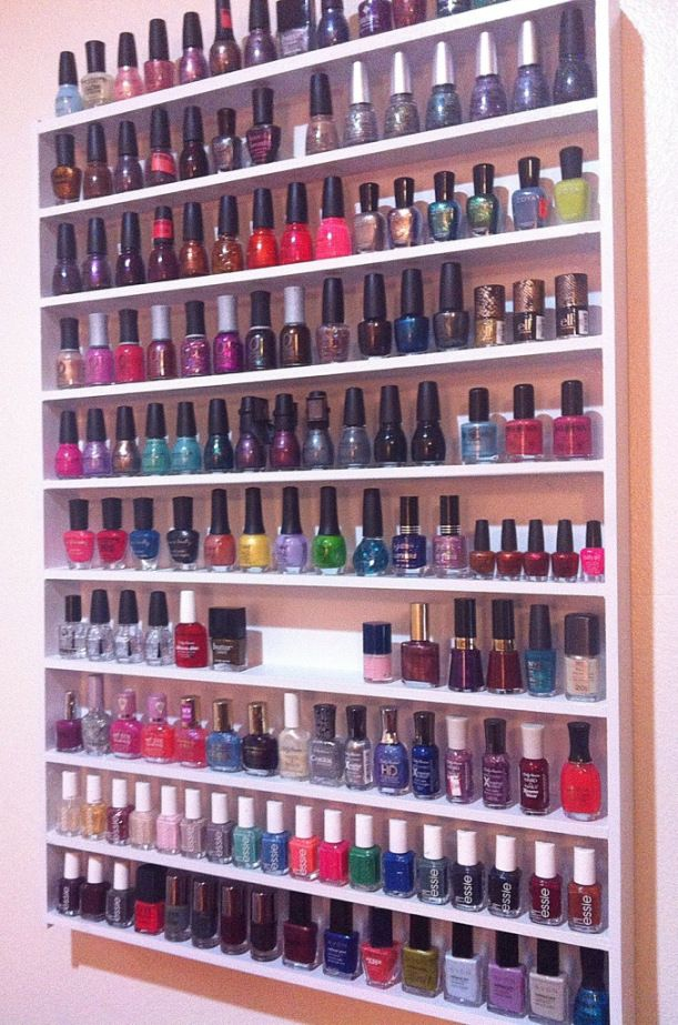DIY Nail Polish Storage Justthepolish.com | For the Home | Pinterest ...