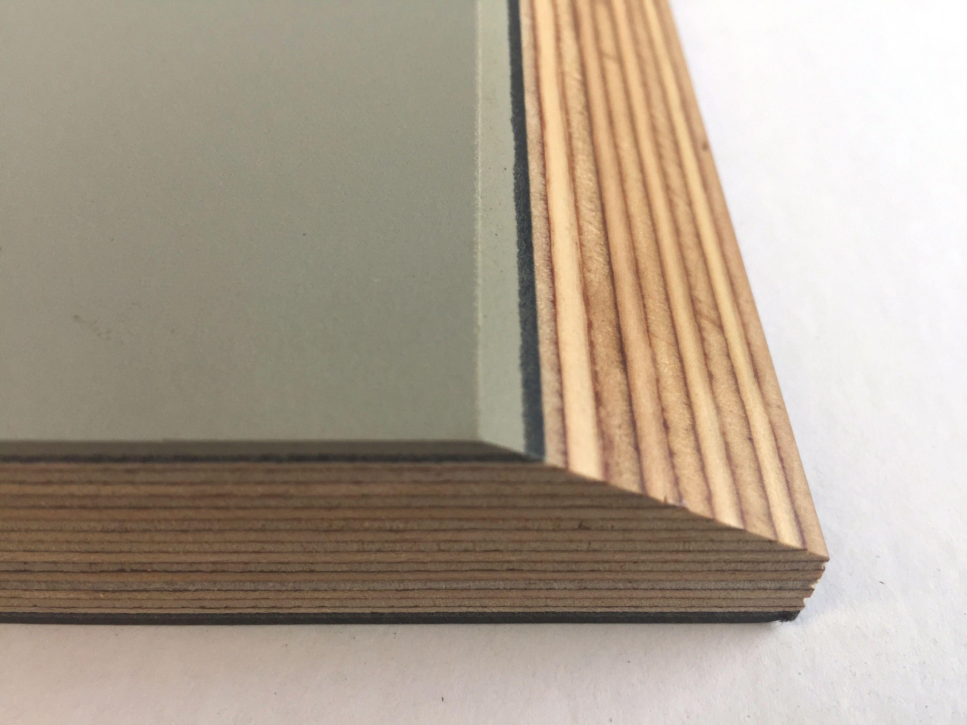 Furniture Linoleum Color Olive 4184 Applied On Multiplex With A Bevelled Edge Forboforfurniture Linoleum Wood Resin Plywood Design