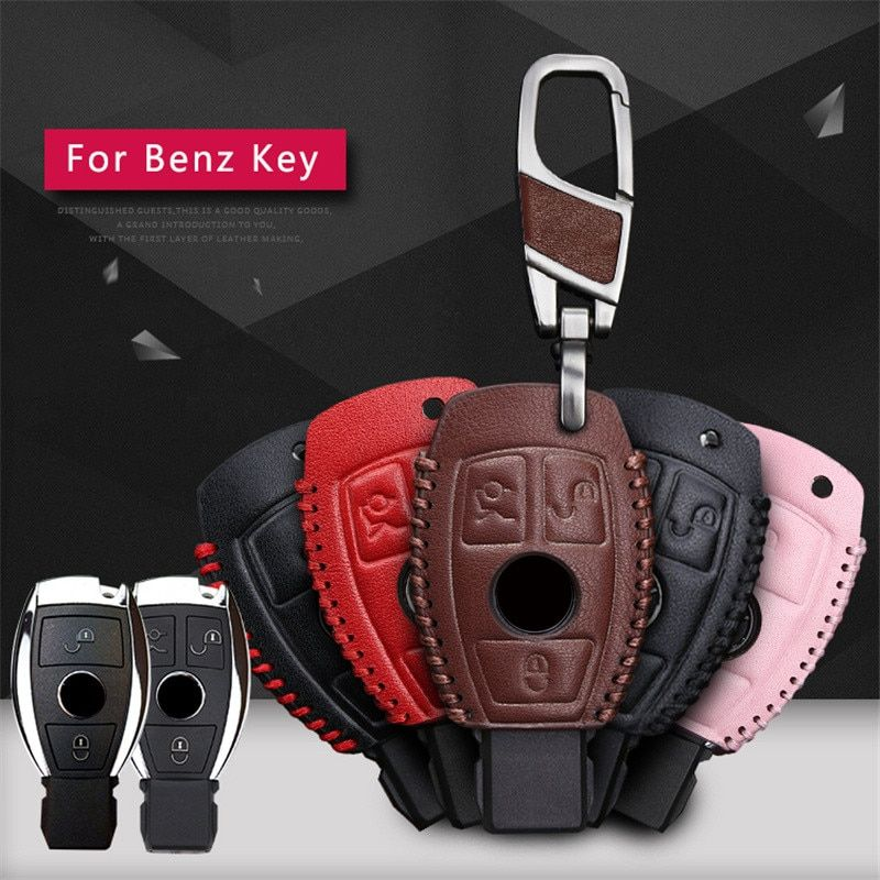 Kukakey Car Key Cases For Mercedes Benz Accessories W203 W210 W211 W124 Smart 2 3button Genuine Leather Key Cover Bag Fob Shell Review Mercedes Benz Accessories Genuine Leather Leather