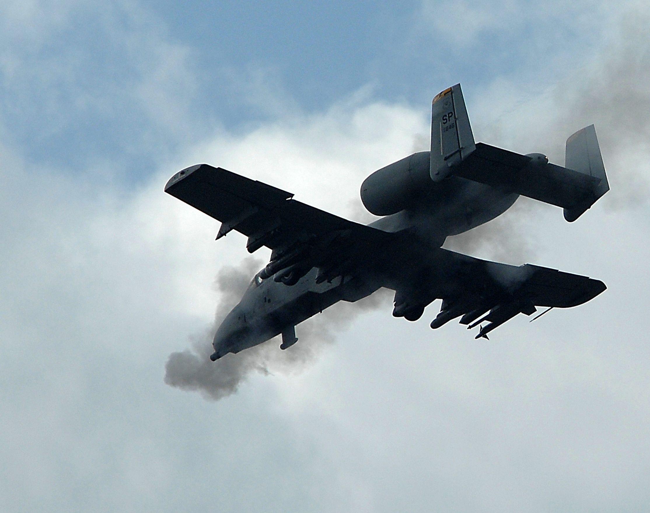 a10 firing cannon Air Force Military Aircraft