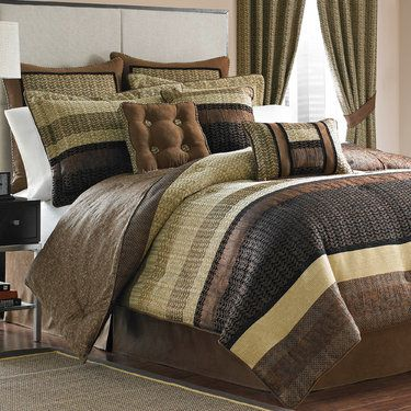 Sahara Herringbone Comforter Bedding By Croscill