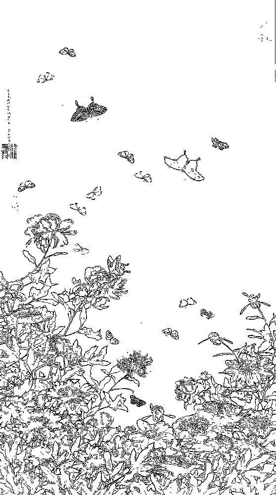 Galerie De Coloriages Gratuits Ito Jakuchu 01 芍薬群蝶図 001