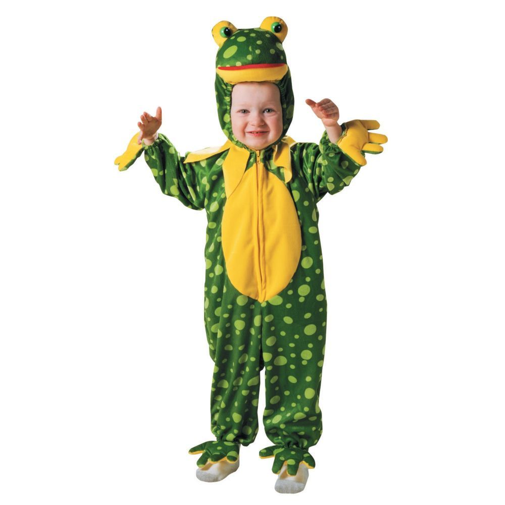 frog spotted plush halloween costume for toddler