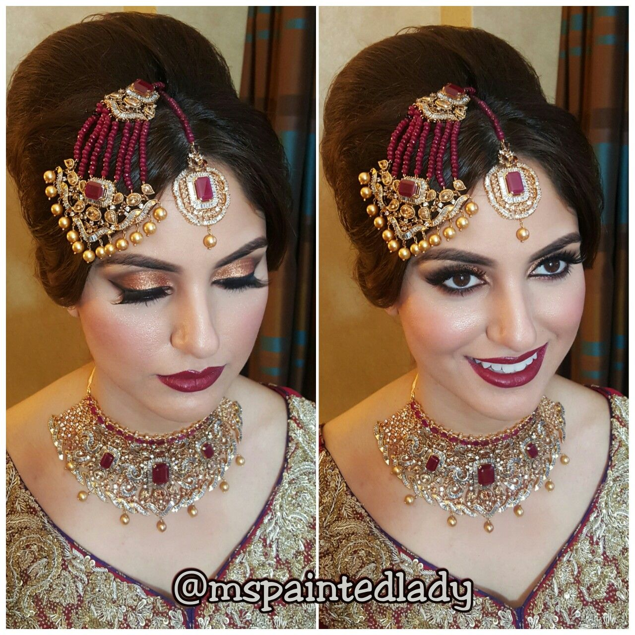 Desi Bridal Makeup And Hair Dallas Indian Bride By Ms Painted Lady Pakistani