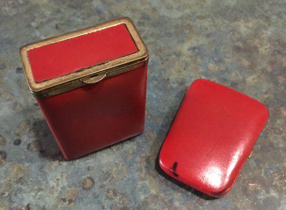 Vintage Princess Gardner Red Cigarette Case and by LeftoverStuff