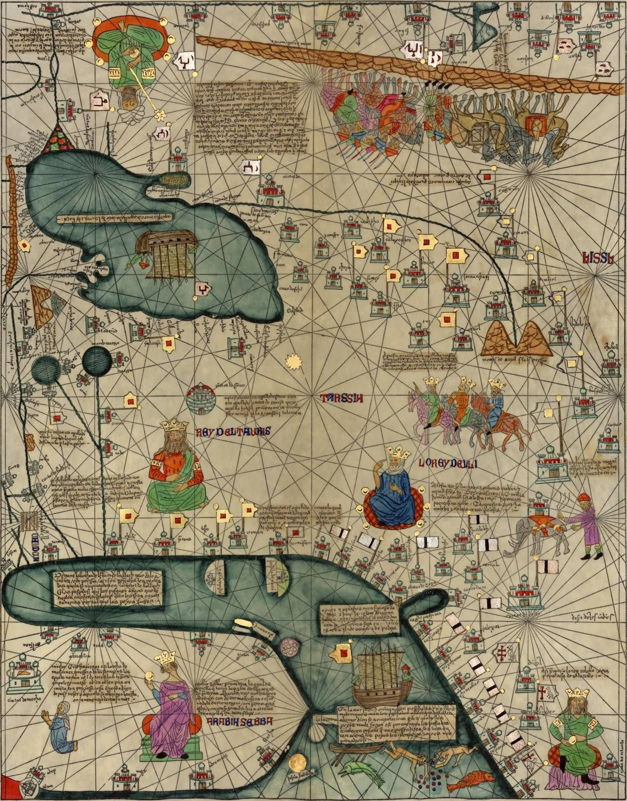 Medieval Map All Kingdoms Of The World Catalan Atlas Set