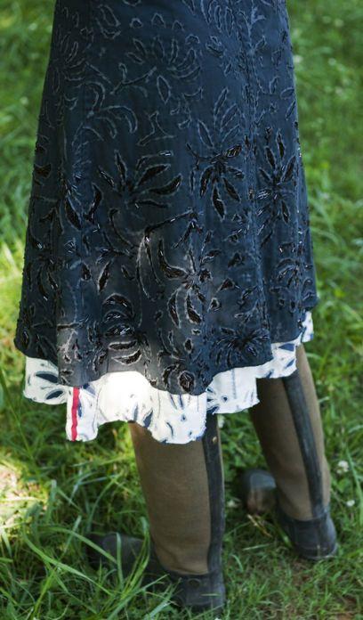 Beaded Anna's Garden Dress skirt detail