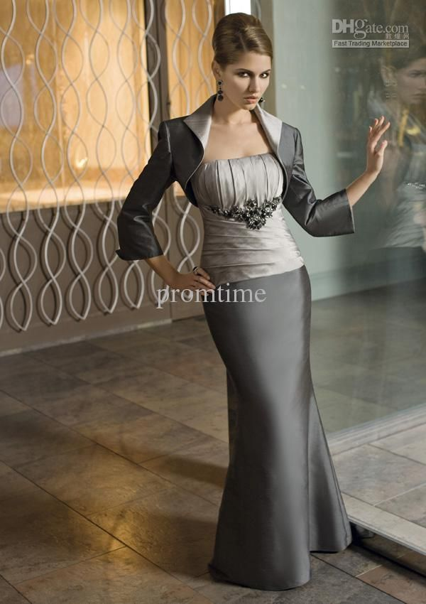 4d9d5f2649c Wholesale Mother Bride - Buy Silver Gray Mother of the Bride Dresses Mother  of the Bride Suits M005 Dress And Jacket