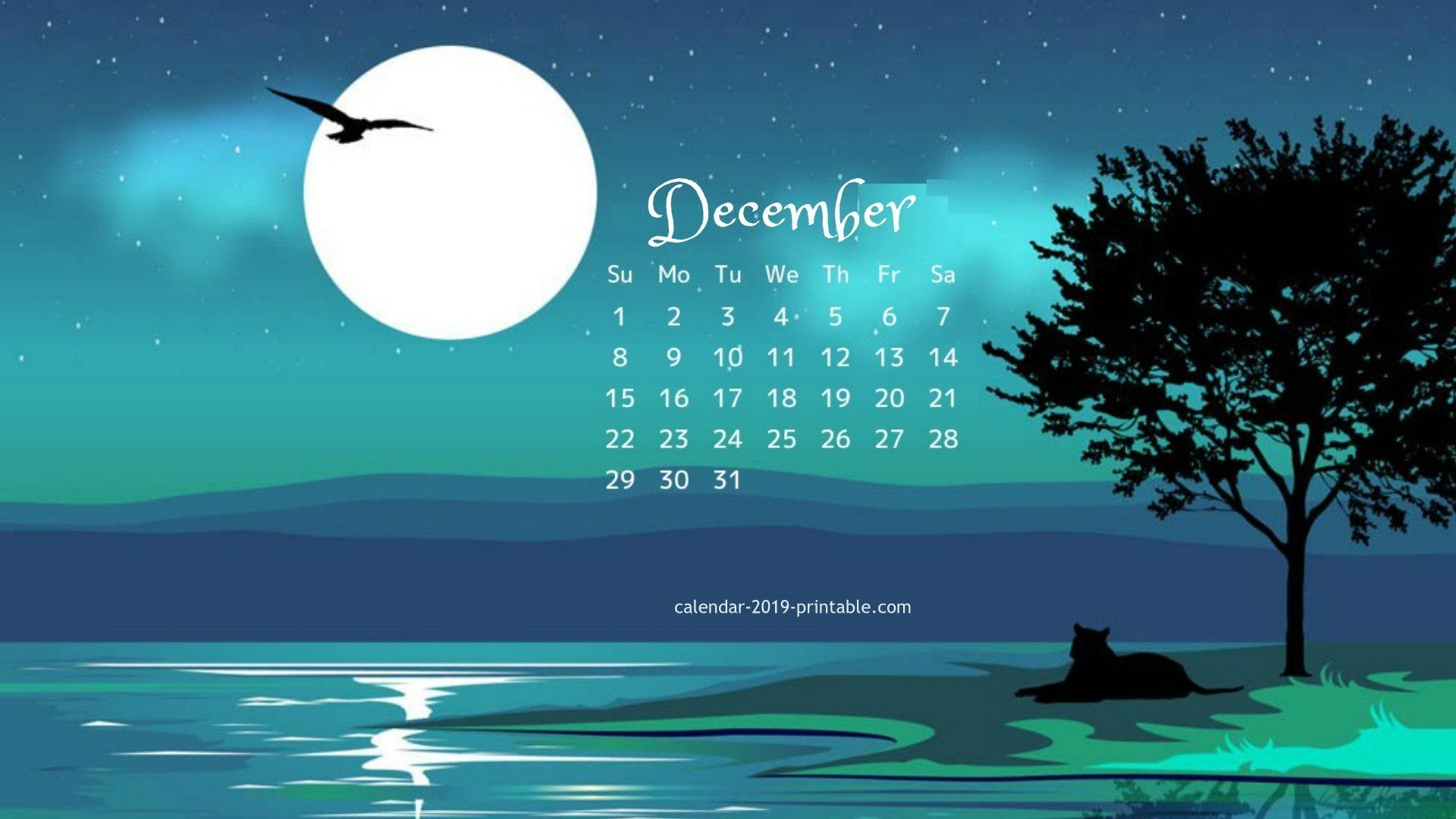 Desktop Calendar Wallpaper December 2019 december 2019 calendar wallpaper | 2019 Calendars in 2019