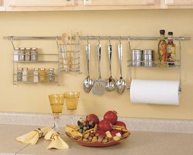Platzsparer Küche | 3059 Chrome Kitchen Rail Kitchen Space Savers Pinterest