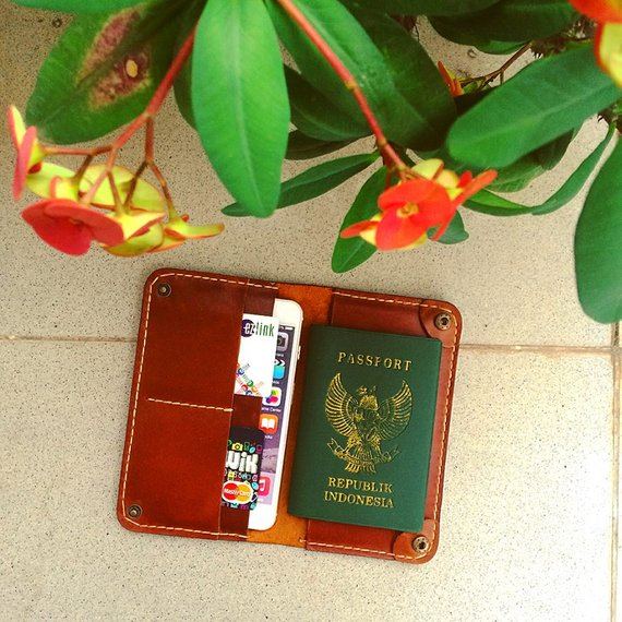 elegant travel Wallet for iPhone and Passport Wallet