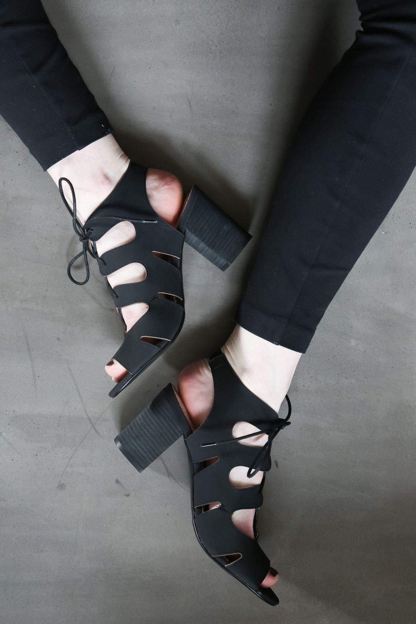The Kade Lace Up Heel