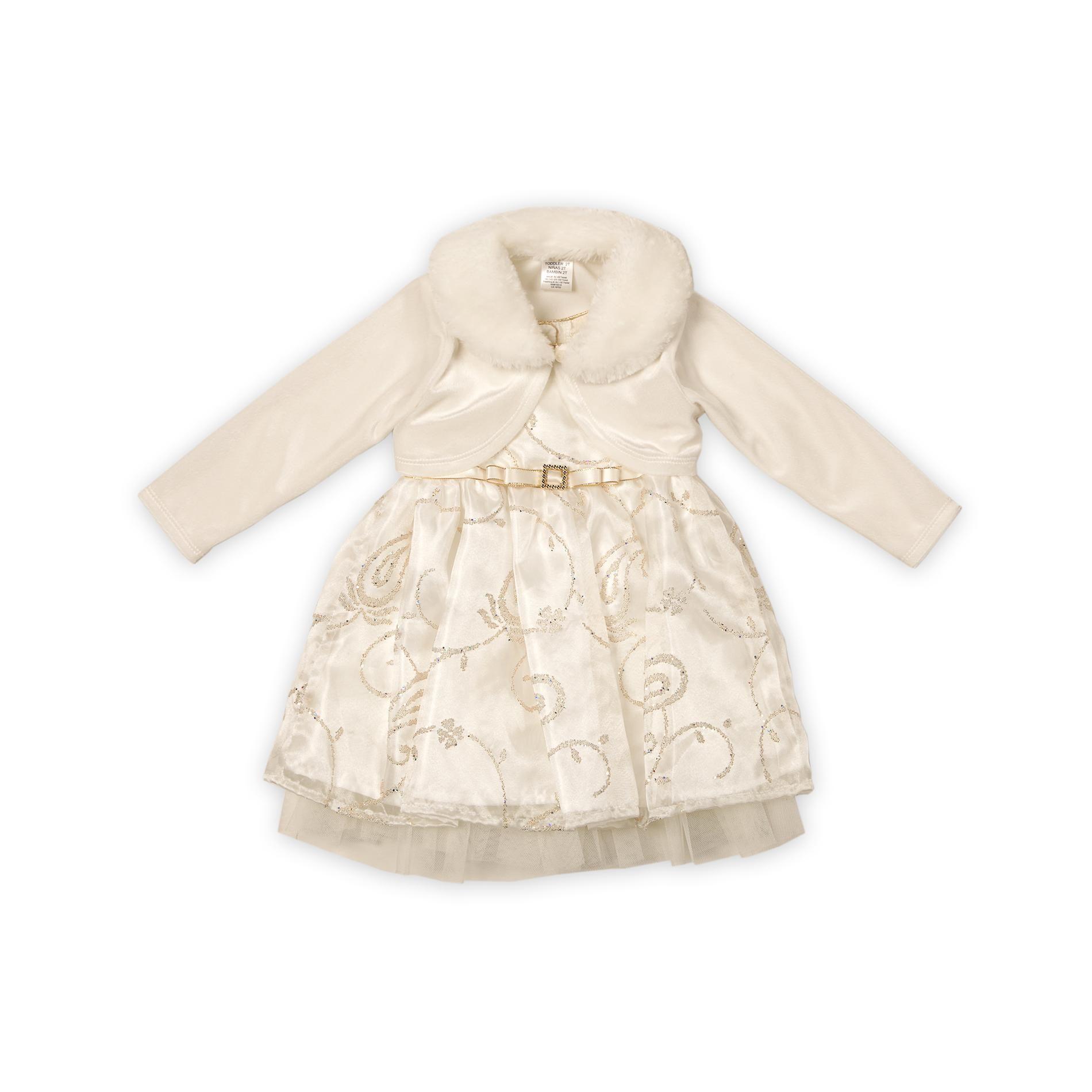9fcf2dc8f17c Sears $22 Youngland- -Infant & Toddler Girl's Bolero Dress - Glitter  Paisley-Baby-Baby & Toddler Clothing-Dresswear
