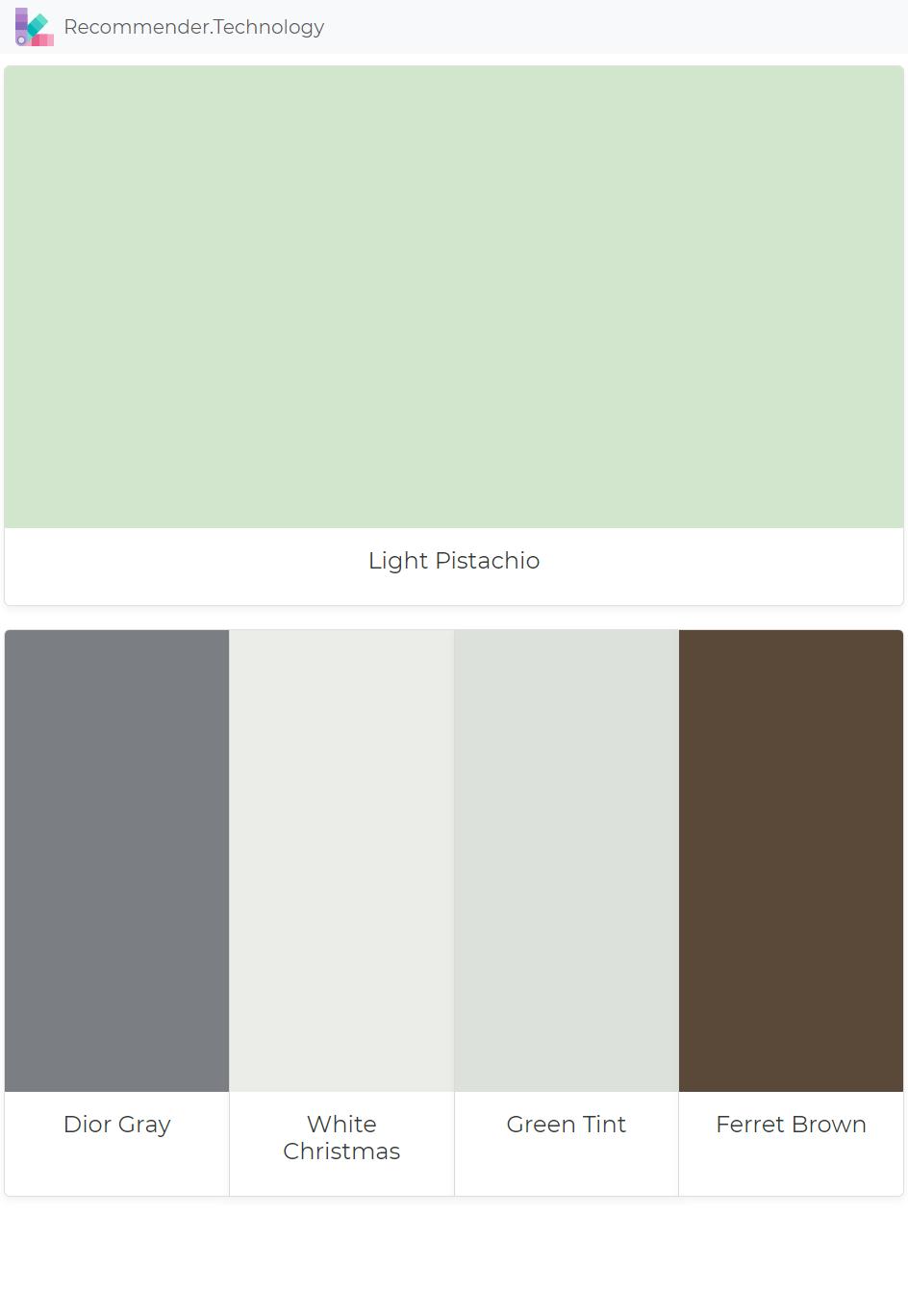 Christmas Green Color.Light Pistachio Dior Gray White Christmas Green Tint