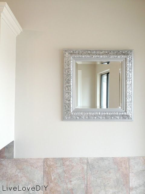 Livelovediy My Favorite Spray Paint And How To Get An Aged Silver Finish On Ornate Frames Or Fixtures Ornate Mirror Painting Mirror Frames Spray Paint Mirror