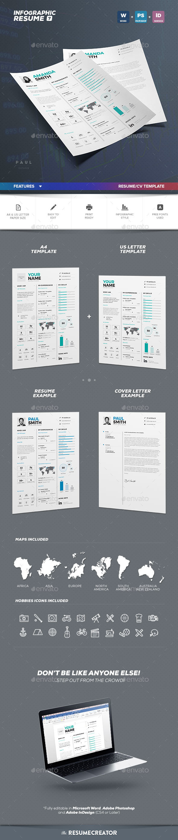 Infographic ResumeCv Volume  Clean Minimalist And Beautiful