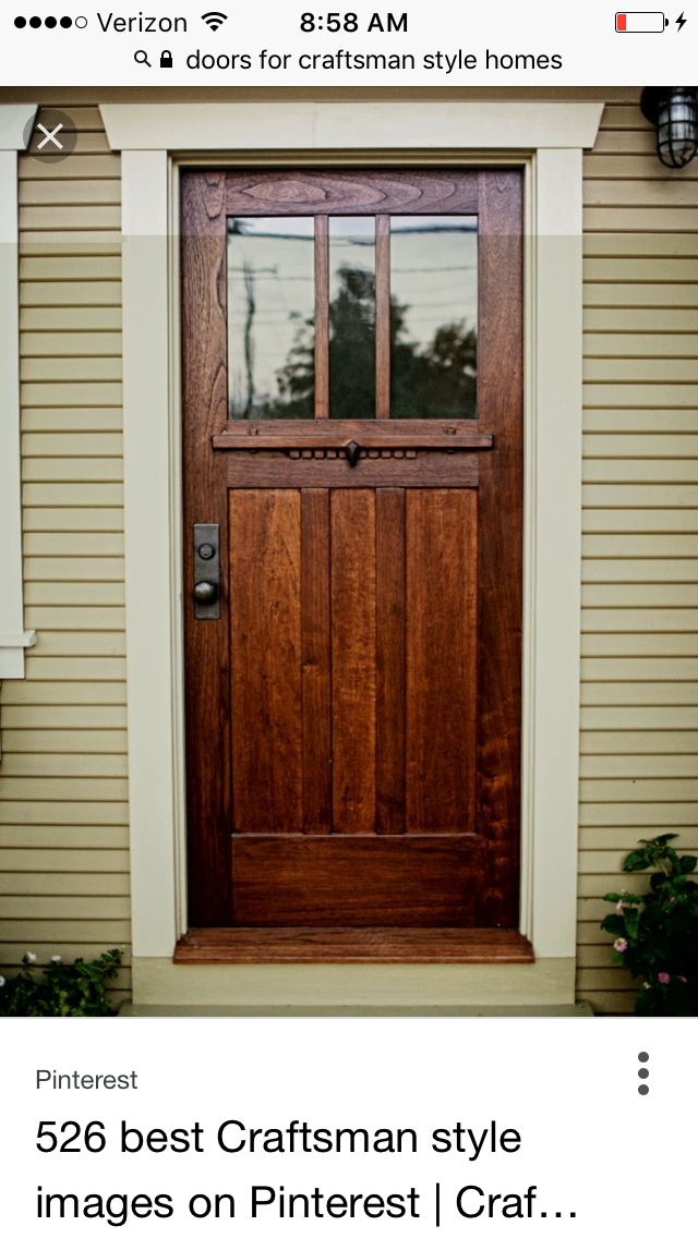 Pin By Becca F On Home Improvement Craftsman Style Doors Craftsman Front Doors Craftsman Door