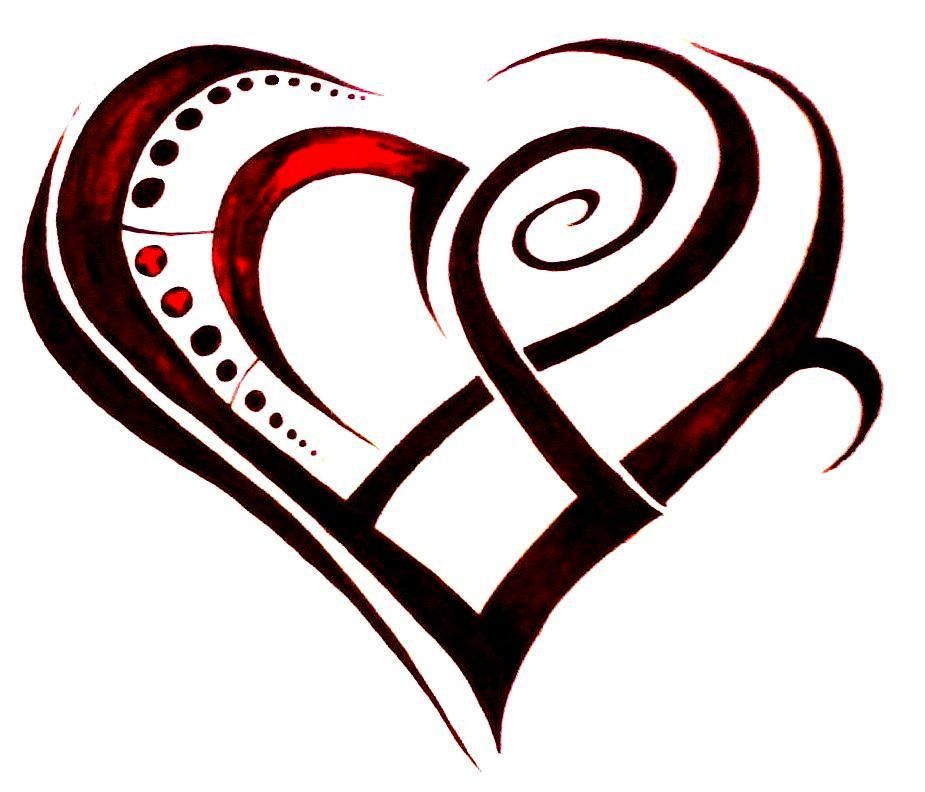Pin By Alicia St Vincent On Tattoo Ideas Tribal Heart Tattoos Simple Heart Tattoos Heart Tattoo Designs