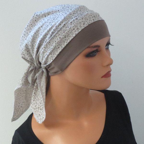 Kopftücher - KOPFTUCH-MÜTZE praktisch bequem CHEMO ALOPEZIE - ein ...