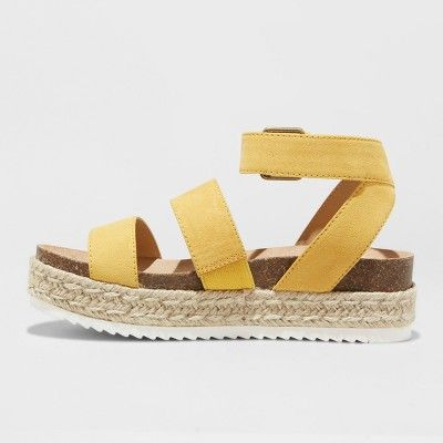 8a2abf5d9 Women s Agnes Wide Width Espadrille Sandals - Universal Thread Yellow 8W