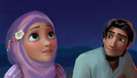 Hijabi Rapunzel And Flynn Rider So Cuuute Islam Is A Part Of Me
