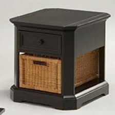 Broyhill Coastal End Tables Black Distressed Finish With