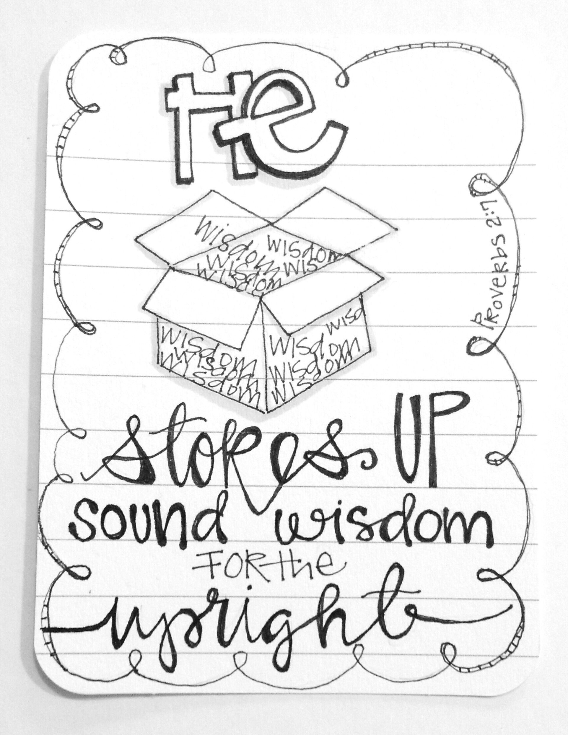 Line Art Journal : Daily doodle proverbs journible doodles and
