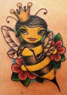 Queen Bee Tattoo Honey Bee Tattoo Queen Bee Tattoo Bumble Bee Tattoo