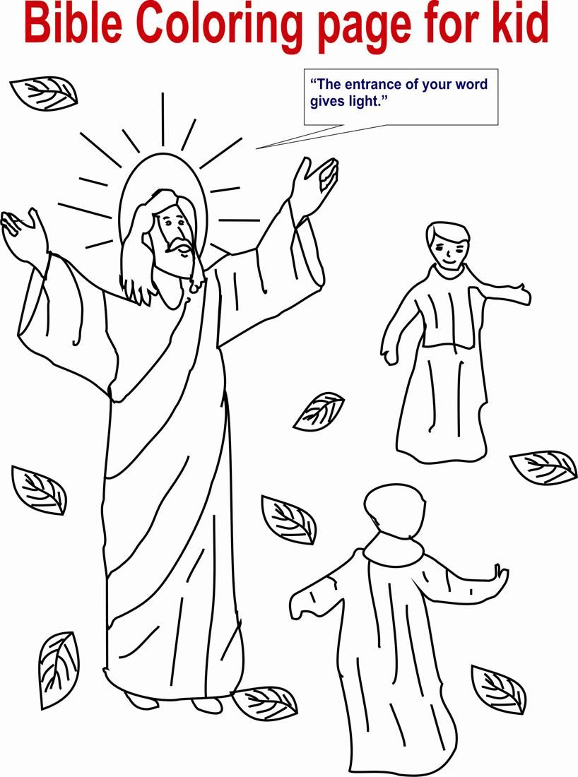 Jesus Preaching Coloring Page Bible Coloring Page For Kid