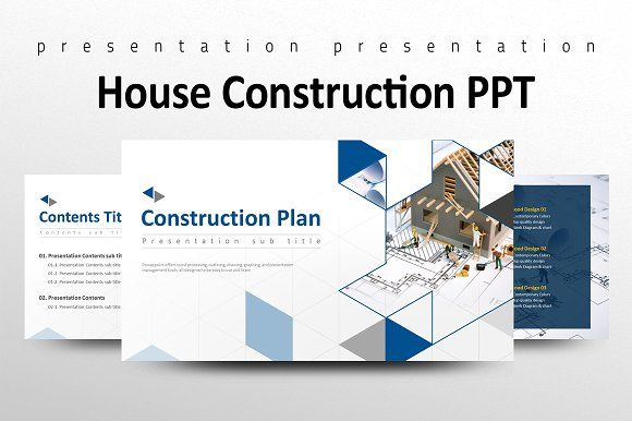 House Construction PPT by Good Pello on @creativemarket Design